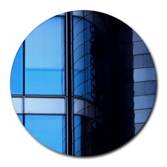 Modern Office Window Architecture Detail Round Mousepads