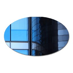 Modern Office Window Architecture Detail Oval Magnet