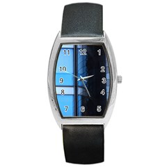 Modern Office Window Architecture Detail Barrel Style Metal Watch