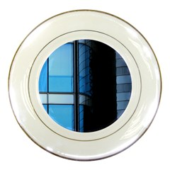 Modern Office Window Architecture Detail Porcelain Plates