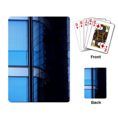 Modern Office Window Architecture Detail Playing Card