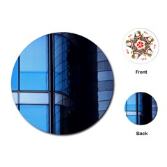 Modern Office Window Architecture Detail Playing Cards (round)