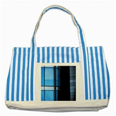 Modern Office Window Architecture Detail Striped Blue Tote Bag