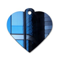 Modern Office Window Architecture Detail Dog Tag Heart (one Side)