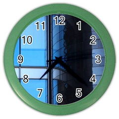 Modern Office Window Architecture Detail Color Wall Clocks
