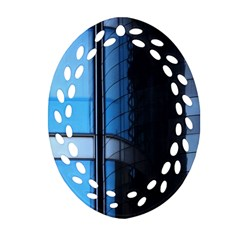 Modern Office Window Architecture Detail Ornament (Oval Filigree)