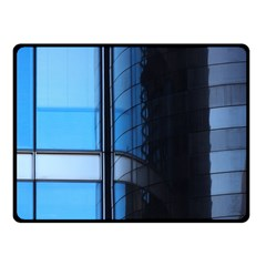 Modern Office Window Architecture Detail Double Sided Fleece Blanket (Small)