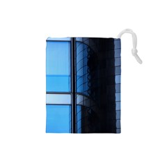 Modern Office Window Architecture Detail Drawstring Pouches (Small)