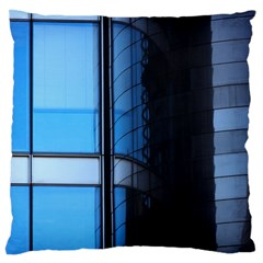 Modern Office Window Architecture Detail Large Flano Cushion Case (one Side)