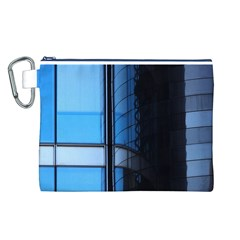 Modern Office Window Architecture Detail Canvas Cosmetic Bag (L)