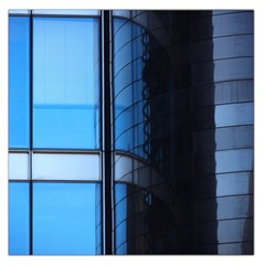 Modern Office Window Architecture Detail Large Satin Scarf (square)