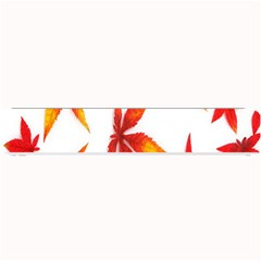 Colorful Autumn Leaves On White Background Small Bar Mats