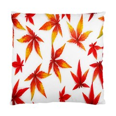 Colorful Autumn Leaves On White Background Standard Cushion Case (Two Sides)