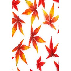 Colorful Autumn Leaves On White Background 5.5  x 8.5  Notebooks