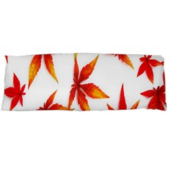 Colorful Autumn Leaves On White Background Body Pillow Case Dakimakura (Two Sides)