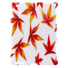 Colorful Autumn Leaves On White Background Apple iPad 3/4 Hardshell Case (Compatible with Smart Cover)