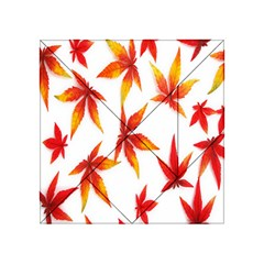 Colorful Autumn Leaves On White Background Acrylic Tangram Puzzle (4  x 4 )