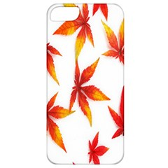 Colorful Autumn Leaves On White Background Apple iPhone 5 Classic Hardshell Case