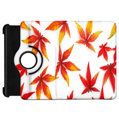 Colorful Autumn Leaves On White Background Kindle Fire Hd 7