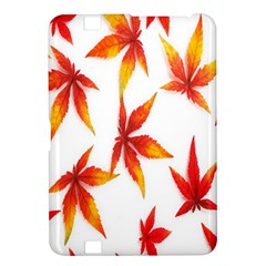Colorful Autumn Leaves On White Background Kindle Fire HD 8.9