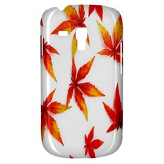 Colorful Autumn Leaves On White Background Galaxy S3 Mini