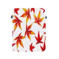 Colorful Autumn Leaves On White Background Apple iPad 2/3/4 Protective Soft Cases