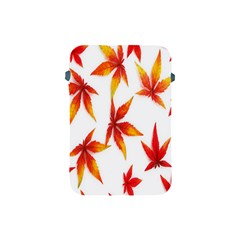 Colorful Autumn Leaves On White Background Apple iPad Mini Protective Soft Cases