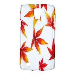 Colorful Autumn Leaves On White Background Galaxy S4 Active