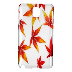 Colorful Autumn Leaves On White Background Samsung Galaxy Note 3 N9005 Hardshell Case