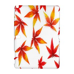 Colorful Autumn Leaves On White Background Galaxy Note 1