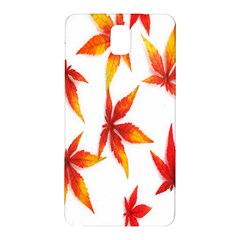 Colorful Autumn Leaves On White Background Samsung Galaxy Note 3 N9005 Hardshell Back Case