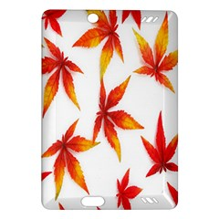 Colorful Autumn Leaves On White Background Amazon Kindle Fire Hd (2013) Hardshell Case