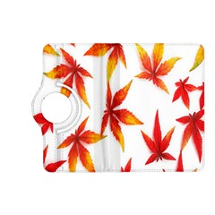 Colorful Autumn Leaves On White Background Kindle Fire HD (2013) Flip 360 Case