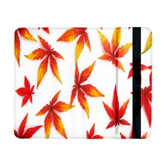 Colorful Autumn Leaves On White Background Samsung Galaxy Tab Pro 8 4  Flip Case