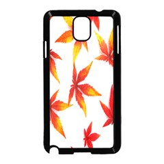 Colorful Autumn Leaves On White Background Samsung Galaxy Note 3 Neo Hardshell Case (Black)