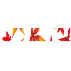 Colorful Autumn Leaves On White Background Flano Scarf (large)