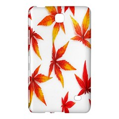 Colorful Autumn Leaves On White Background Samsung Galaxy Tab 4 (8 ) Hardshell Case