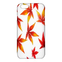 Colorful Autumn Leaves On White Background iPhone 6/6S TPU Case