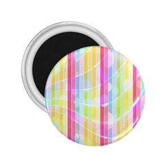 Colorful Abstract Stripes Circles And Waves Wallpaper Background 2.25  Magnets
