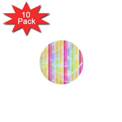 Colorful Abstract Stripes Circles And Waves Wallpaper Background 1  Mini Buttons (10 Pack)