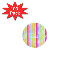 Colorful Abstract Stripes Circles And Waves Wallpaper Background 1  Mini Buttons (100 pack)