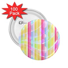 Colorful Abstract Stripes Circles And Waves Wallpaper Background 2.25  Buttons (100 pack)
