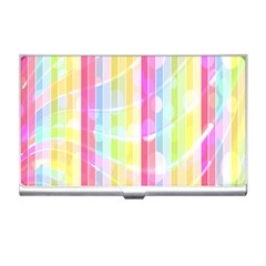 Colorful Abstract Stripes Circles And Waves Wallpaper Background Business Card Holders