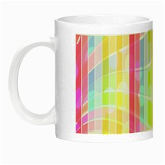 Colorful Abstract Stripes Circles And Waves Wallpaper Background Night Luminous Mugs