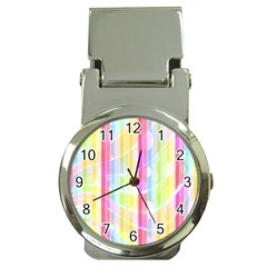 Colorful Abstract Stripes Circles And Waves Wallpaper Background Money Clip Watches