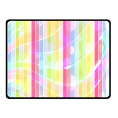 Colorful Abstract Stripes Circles And Waves Wallpaper Background Fleece Blanket (small)