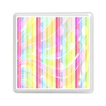 Colorful Abstract Stripes Circles And Waves Wallpaper Background Memory Card Reader (Square)  Front
