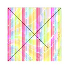 Colorful Abstract Stripes Circles And Waves Wallpaper Background Acrylic Tangram Puzzle (6  X 6 )