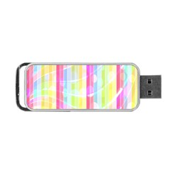 Colorful Abstract Stripes Circles And Waves Wallpaper Background Portable USB Flash (Two Sides)