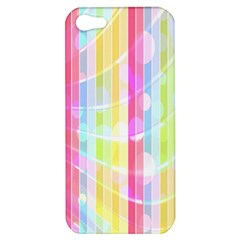 Colorful Abstract Stripes Circles And Waves Wallpaper Background Apple iPhone 5 Hardshell Case